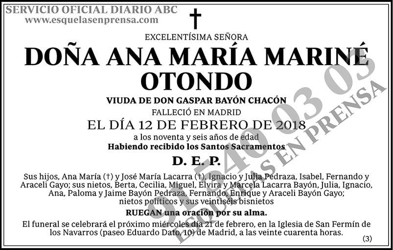 Ana María Mariné Otondo